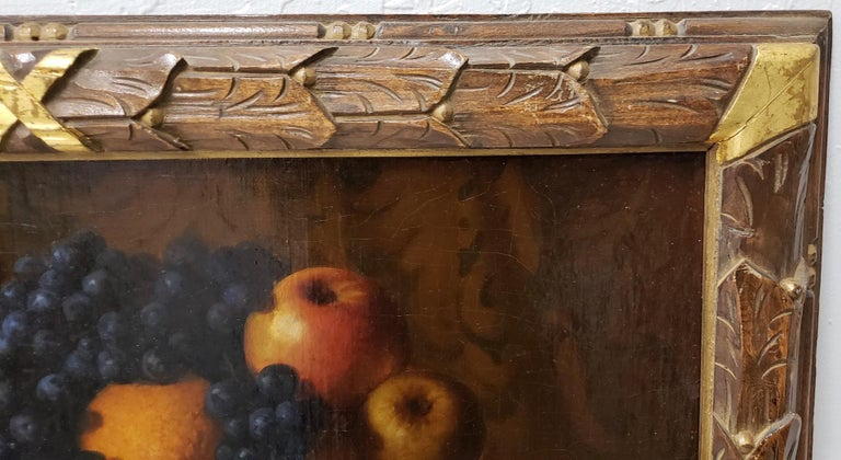 Late 19th Century Still Life With Fruit Oil Painting, circa 1880 In Good Condition For Sale In San Francisco, CA