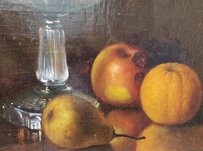 Late 19th Century Still Life With Fruit Oil Painting, circa 1880 For Sale 1