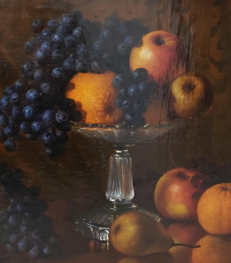 Late 19th Century Still Life With Fruit Oil Painting, circa 1880 For Sale 2
