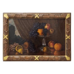 Late 19th Century Still Life With Fruit Oil Painting, circa 1880