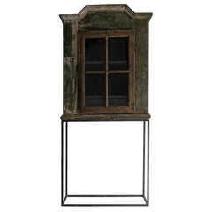 Outstanding Original 18th Century Cabinet on Modern Steel Stand
