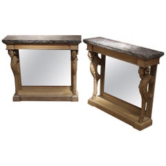 Outstanding Pair of 19th Century French Console Tables
