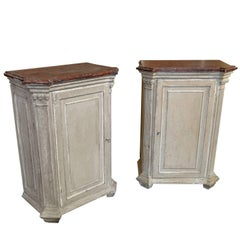Outstanding Pair of Louis XVI Style Side Cabinets