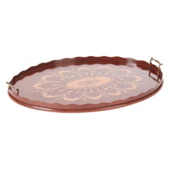 Outstanding Quality Antique Edwardian Inlaid Mahogany Tray