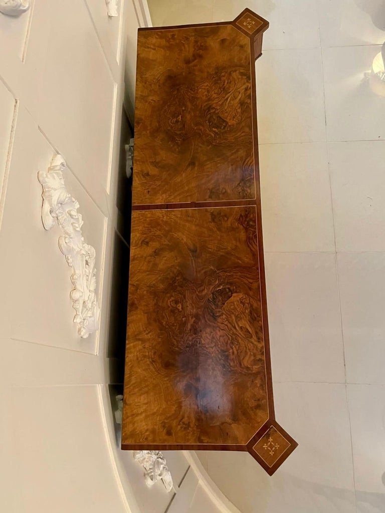 Outstanding Quality Antique Victorian Inlaid Burr Walnut Side Cabinet For Sale 13