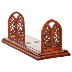 Outstanding Quality Large Solid Walnut Victorian Sliding Bookends