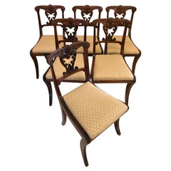 Outstanding Quality Set of Six Antique Regency Carved Rosewood Dining Chairs