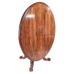 Outstanding Rosewood William IV Round Centre Table