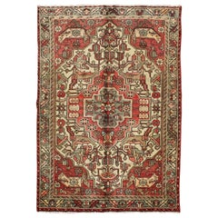 Outstanding Vintage Persian Lilihan Rug with Floral Geometric Medallion Design