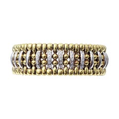 Outstanding Vintage Roberto Coin 18 Karat Gold and Diamond Bangle