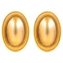 Oval 18 Karat Tiffany & Co. Clip-On Earrings