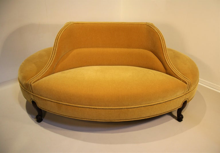 Belgian Oval 6-Seat Confident Sofa For Sale