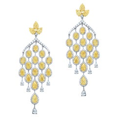 Oval and Pear Chandelier-26.22cts