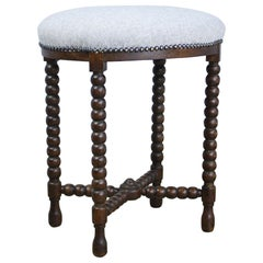 Oval Antique Bobbin Legged Stool