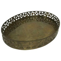 Oval Bass Gallery Serving Tray