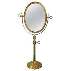 Oval Brass Vanity Mirror