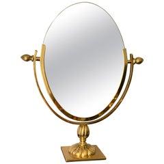 Oval Brass Vanity Morror