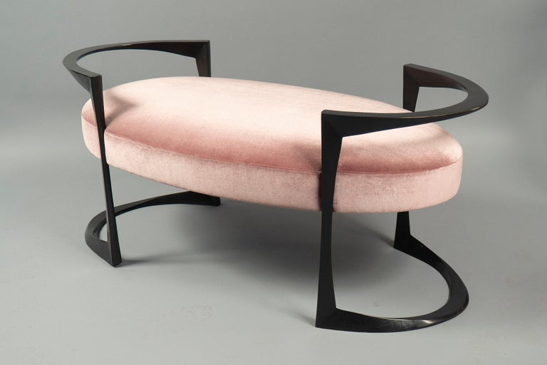 French Oval Bronze Bench by Anastasia Millot, France, 2018 For Sale