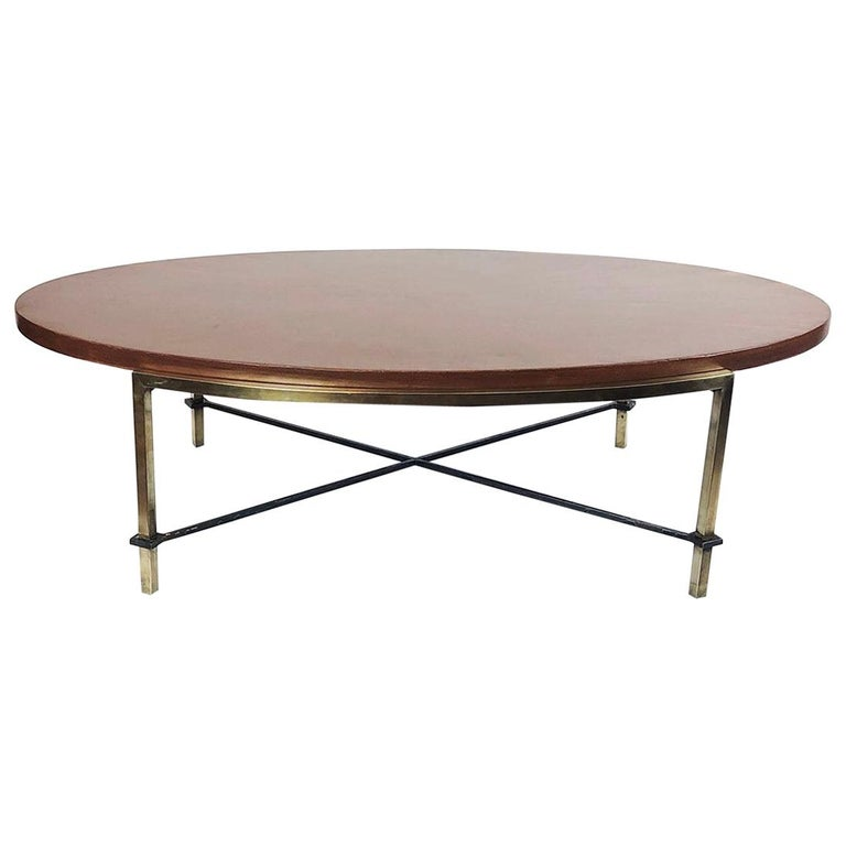Oval Coffee Table by Arturo Pani For Sale