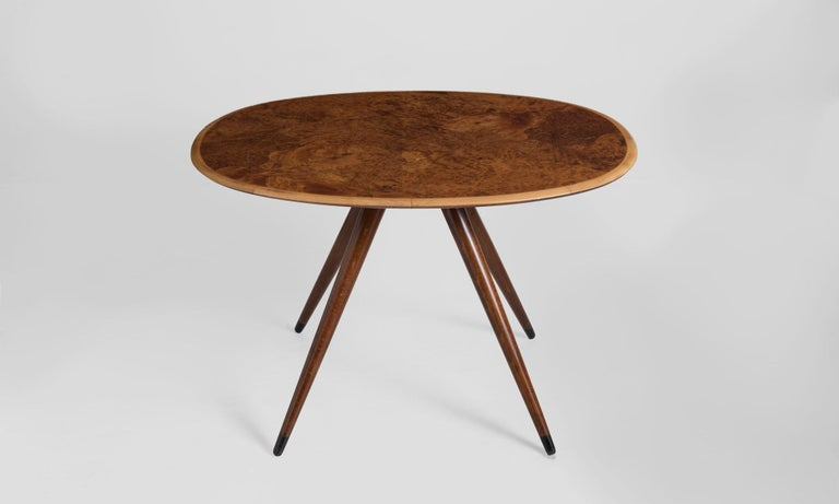 Oval Coffee Table by David Rosen, Denmark, circa 1960 In Excellent Condition For Sale In Culver City, CA