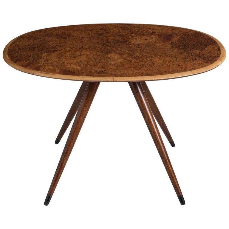 Oval Coffee Table by David Rosen, Denmark, circa 1960 For Sale