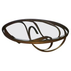 Oval Coffee Table, Statement Centerpiece, Large Center Table