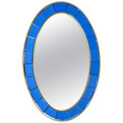 Oval Cristal Art Mirror