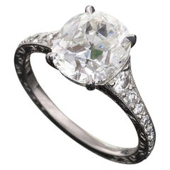 Oval Cushion-Cut Diamond Ring