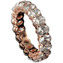 Oval Cut Diamond 0.30 Carat Eternity Ring in 18 Karat Rose Gold