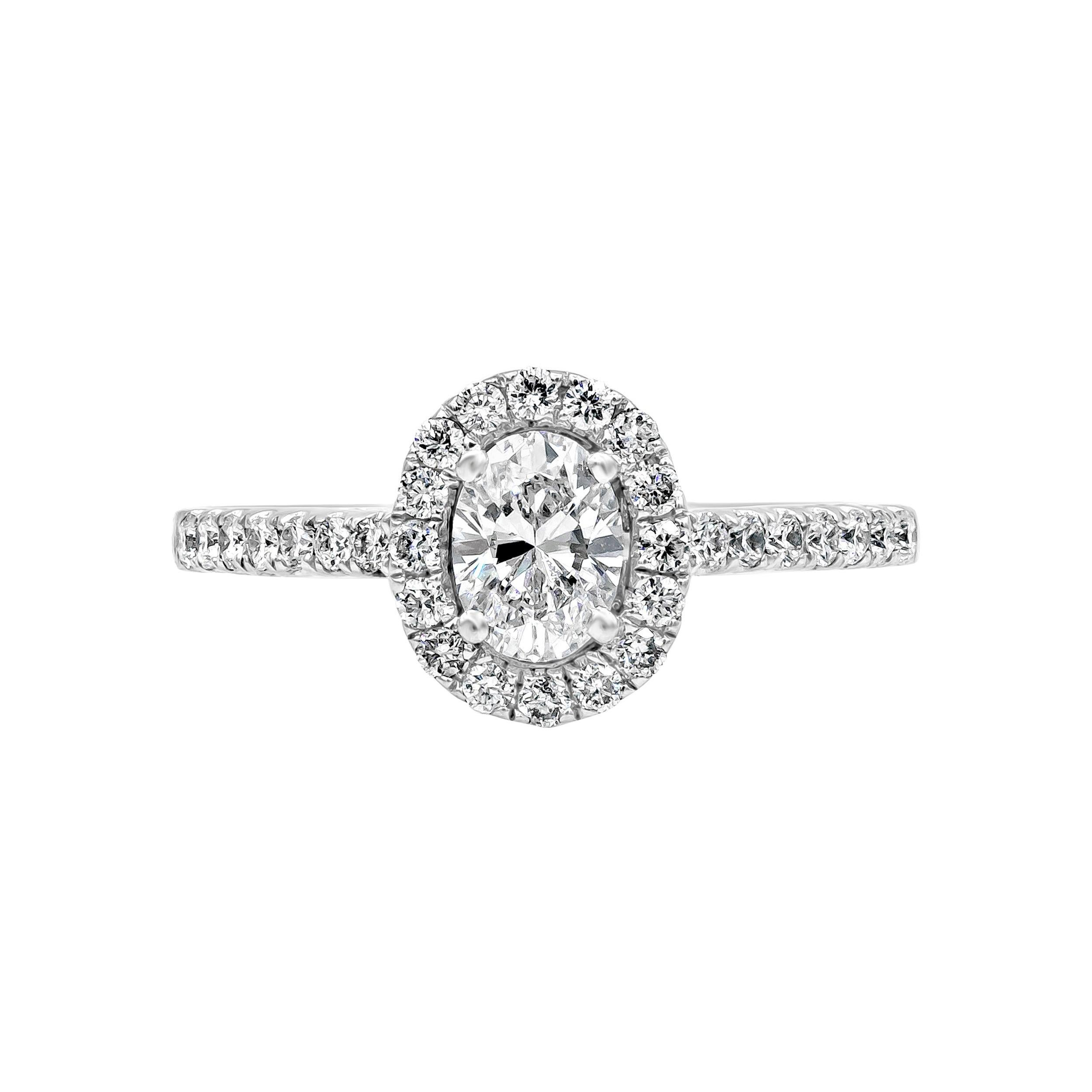 Roman Malakov, Oval Cut Diamond Halo Engagement Ring