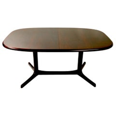 Oval Danish Modern Dining Table by Dyrlund with 2 Leaves