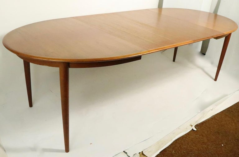 Oval Danish Modern Dining Table by Gudme Mobelfabrik For Sale 7