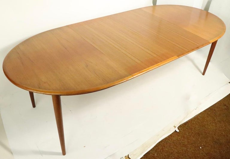 Oval Danish Modern Dining Table by Gudme Mobelfabrik For Sale 8