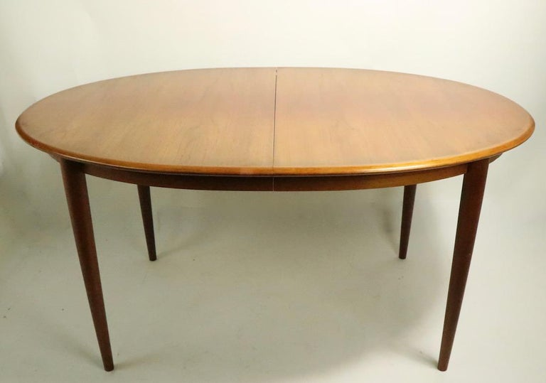 Scandinavian Modern Oval Danish Modern Dining Table by Gudme Mobelfabrik For Sale
