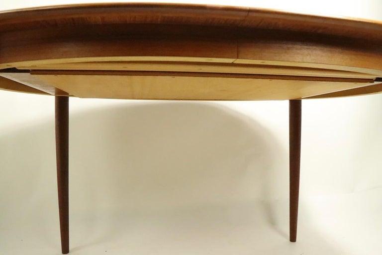 Teak Oval Danish Modern Dining Table by Gudme Mobelfabrik For Sale