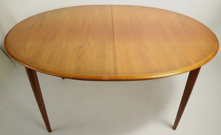 Oval Danish Modern Dining Table by Gudme Mobelfabrik For Sale 1