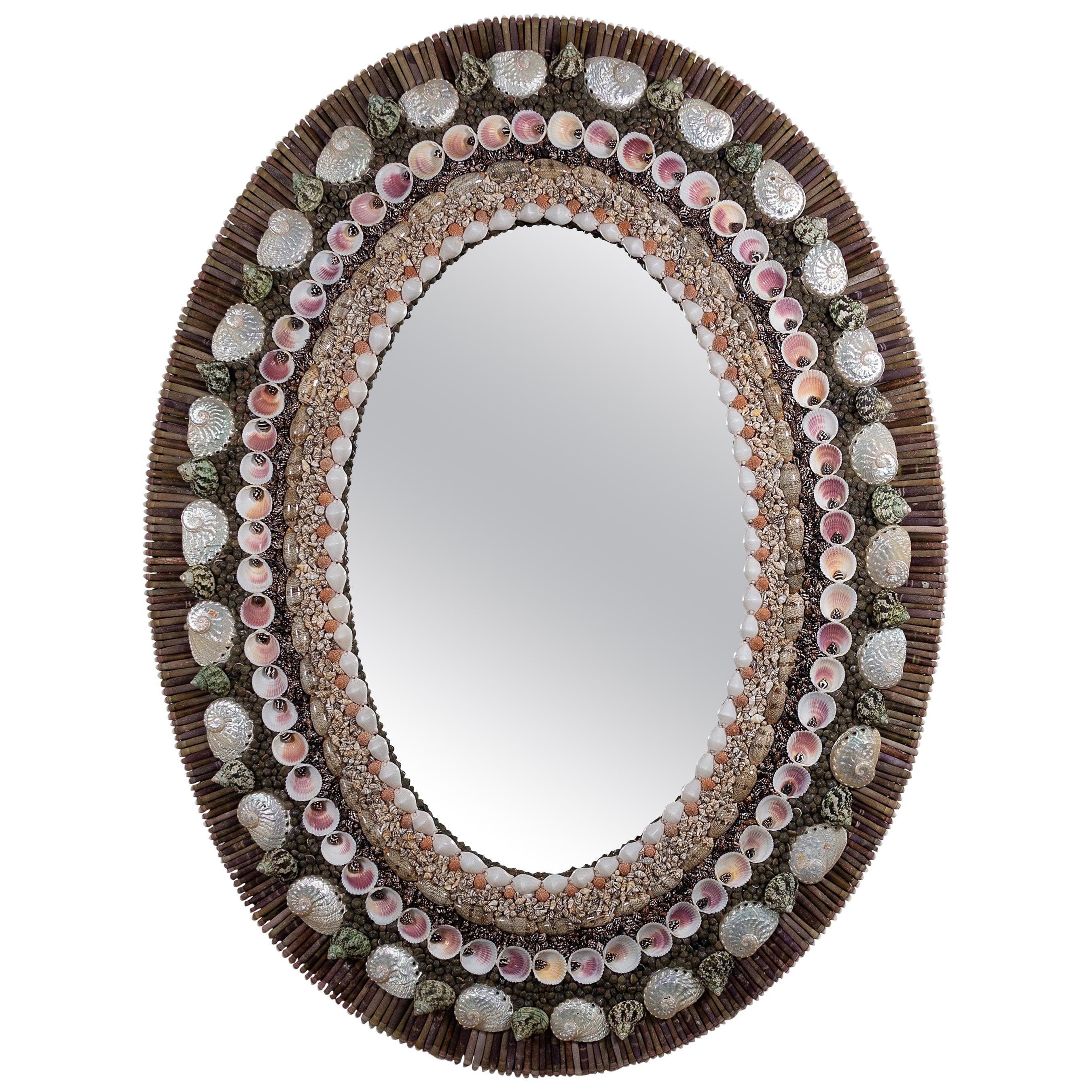 Oval Decisions, Unique Shell Mirror by Shellman Scandinavia