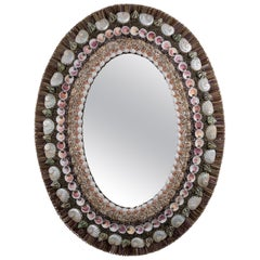 Oval Decisions, Unique Shell Mirror by Shellman Scandinavia