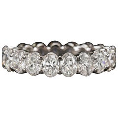Oval Diamond 3.60 Carat Eternity Band Ring