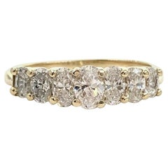 Oval Diamond Band 1.00 Carat 14 Karat Yellow Gold