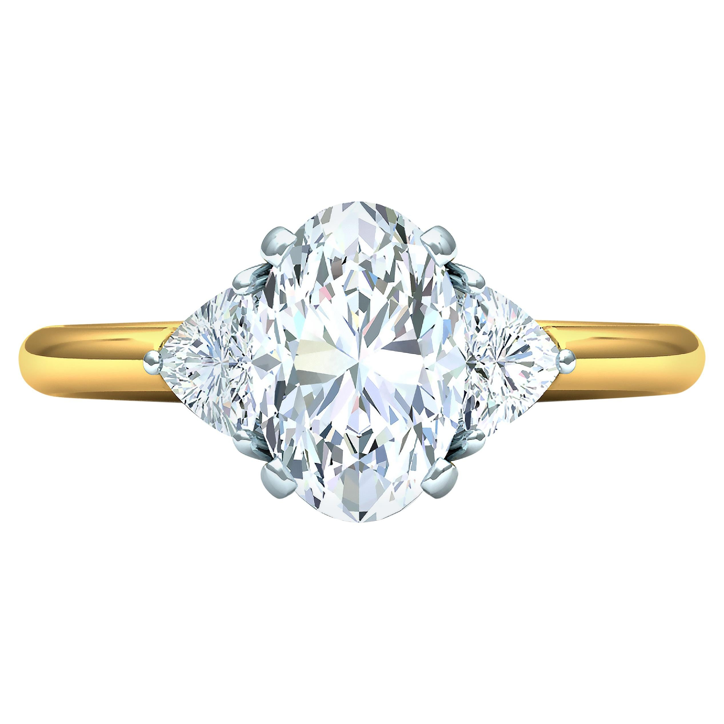 Oval Diamond Engagement Ring GIA Certified 2.10 Carat
