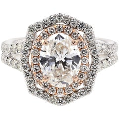 Oval Diamond Engagement Ring 'GIA'