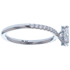 Oval Diamond Engagement Ring with Hidden Diamond Halo 'GIA Certified'