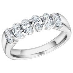 Oval Diamond Partial Prong Set 18 Karat Gold Ring Weighing 1.50 Carat