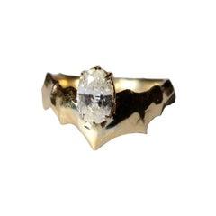 Oval Diamond Ring in 18 Karat Yellow Gold