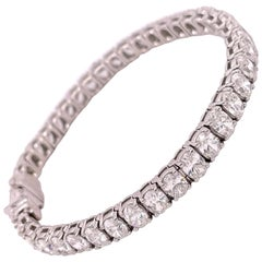 Oval Diamond Tennis Bracelet 13.58 Carat