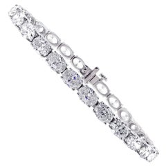 Oval Diamond Tennis Bracelet by Pampillonia