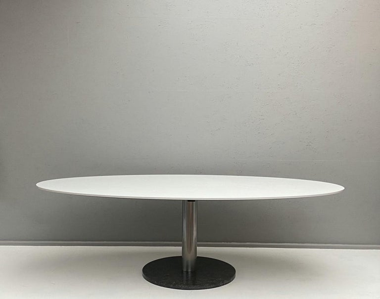 Oval dining table by Alfred Hendrickx.