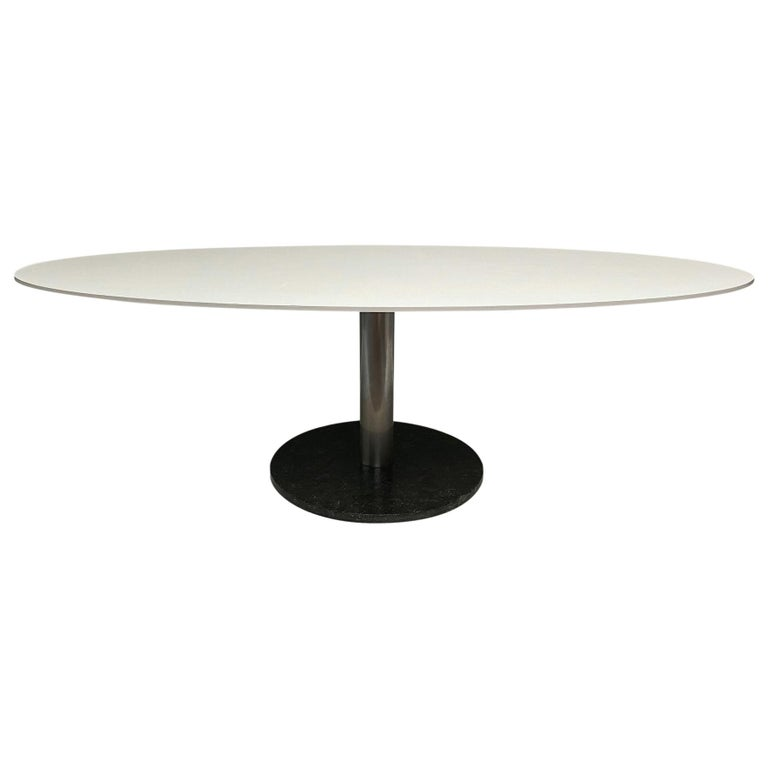 Oval Dining Table by Alfred Hendrickx For Sale