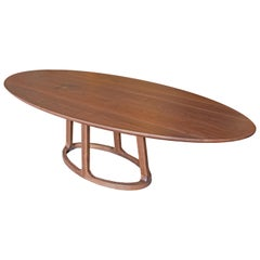 Oval Dining Table in Solid Walnut by Mark Jupiter